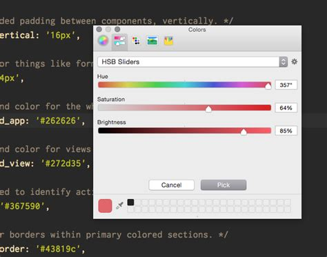 os x color picker github owainharris color picker os x