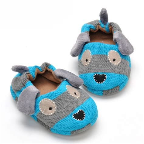 children house shoes 2016 kids slippers coral velvet winter children shoes cartoon knitted soft sole 0 1