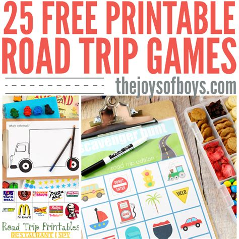 printable road trip activities road trip books kids will love the joys of boys