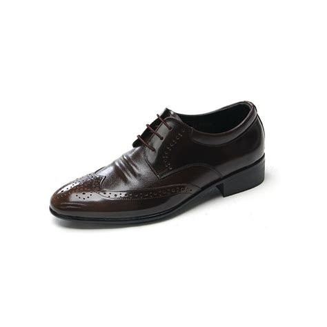 mens brown oxford dress shoes mens wingtips cow leather oxford