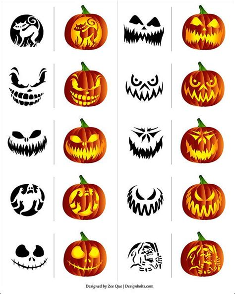 Scary Pumpkin Template by Scary Ghost Pumpkin Carving Templates Www Pixshark