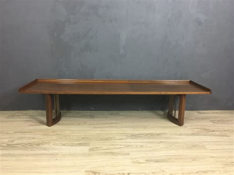 mid century upholstered bench mid century bench with upholstered cushion retrocraft