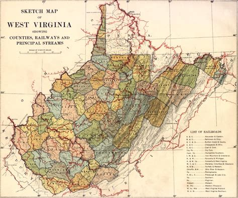 wv map west virginia history