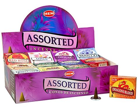 Incense Cone Assorted om imports wholesale hem 48 packs assorted cones incense