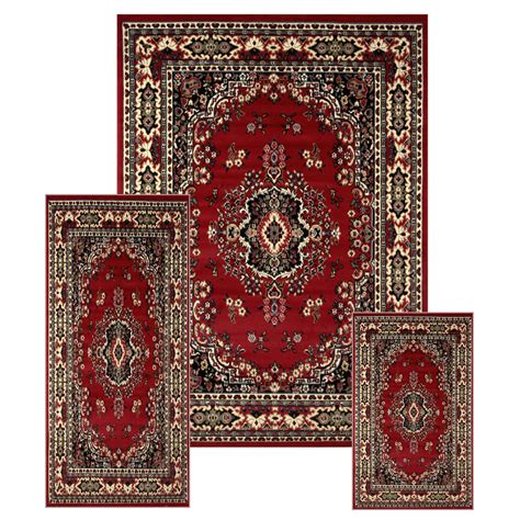 runner area rugs traditional medallion 3 pcs area rug runner mat combo set ebay