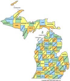 County Map Of Michigan by Michigan Map With County Lines Michigan Counties Map