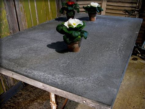 zinc topped dining cafe and restaurant tables