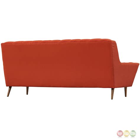red contemporary sofa response contemporary button tufted upholstered sofa
