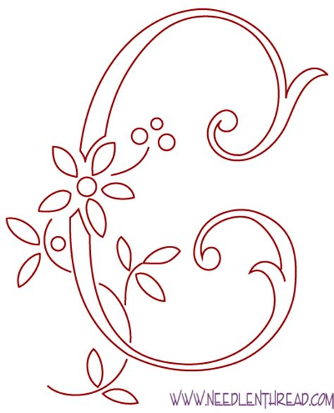 design pattern c free hand embroidery pattern monogram c and avoiding