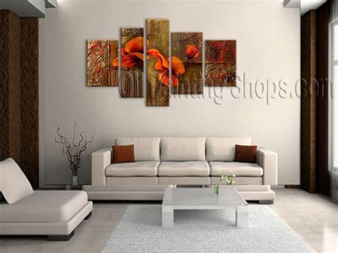 Ideas To Decorate A Large Wall by Astonishing Large 4 Panels Wall Decorating Ideas