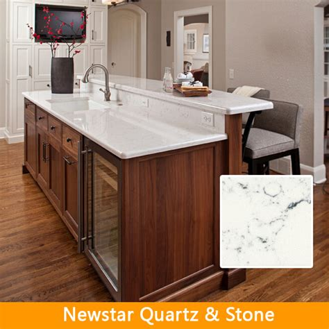 prefabricated kitchen island white artifiical quartz prefabricated kitchen island top