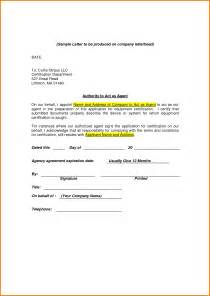 Letter Authorization For Someone Act Your Behalf letter of authorization to act on behalf authorization letter pdf