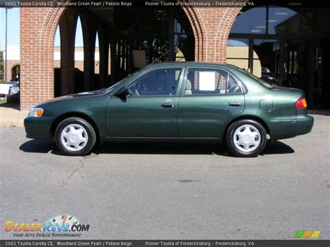 2001 Toyota Corolla Green 2001 Toyota Corolla Ce Woodland Green Pearl Pebble Beige