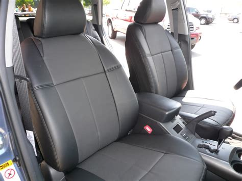 seat covers for leather seats clazzio covers 2003 2011 toyota rav4 base sport leather seat covers