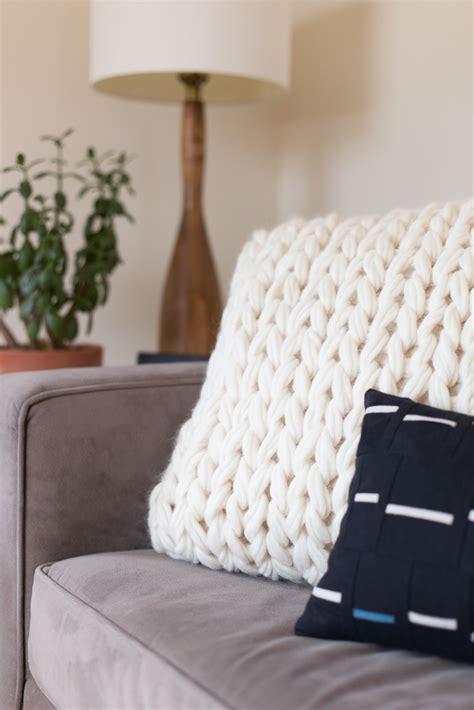 arm knit pillow noodlehead