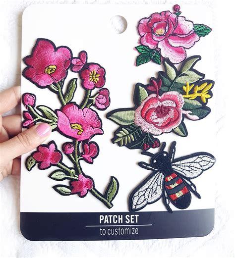 decorar ropa con parches parches bordados para decorar tu ropa set con 4 rosas