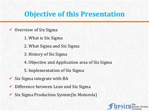 Pba Mba Requirements by Six Sigma