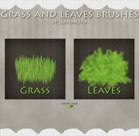 paint tool sai leaf brush 60 photoshop grass brushes seed your designs with some