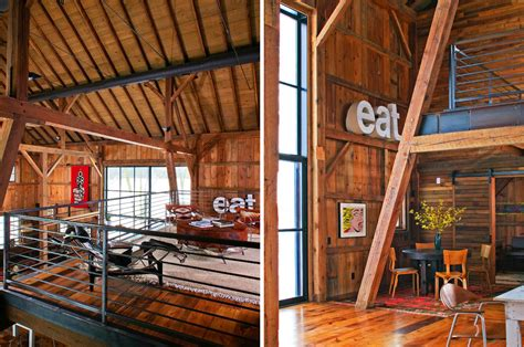 Loft In Garage by Modern Michigan Barn House Conversion With Rustic