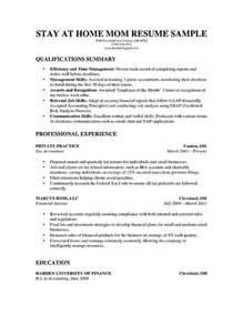 how to write a stay at home resume resume genius