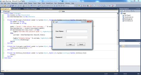 membuat form login pada visual basic membuat form login dengan visual studio 2010 visual basic