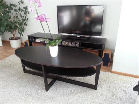Ikea Tisch Schwarz by Ikea Tisch Vejmon Couti Wohnzimmertisch Couchtisch Oval