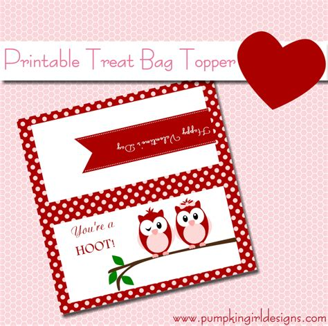 valentine bag toppers printable valentines day bag toppers valentine s day treat bag topper pumpkingirl designs