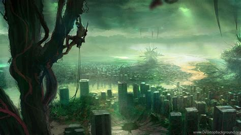 wallpapers future city dystopia urban science fiction