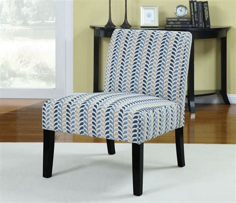 leaf pattern accent chair finley blue beige leaf pattern accent chair from coaster