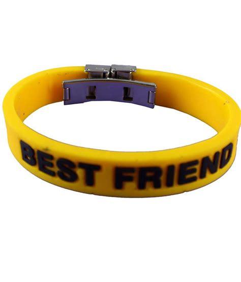 Silicone Friend eshoppee best friend silicone wrist band for