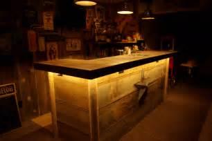 Wood Bar Reclaimed Rustics Barn Wood Bar