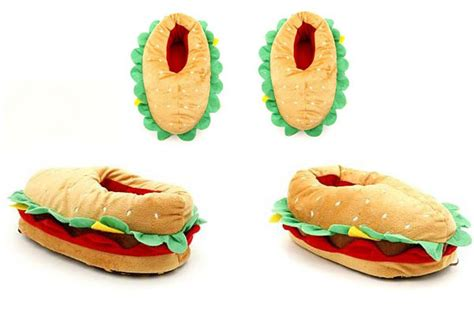 food slippers cheeseburger slippers baby yeah