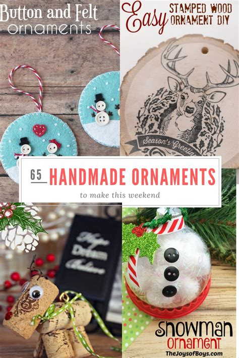 Handmade Ornaments To Make - 65 handmade ornaments to make this weekend p s