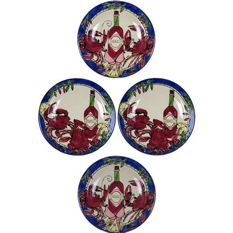 tabasco seafood buffet 12 quot charger plate set 4