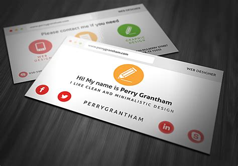 Name Card Templates Psd by Name Card Design Template Psd Image Collections
