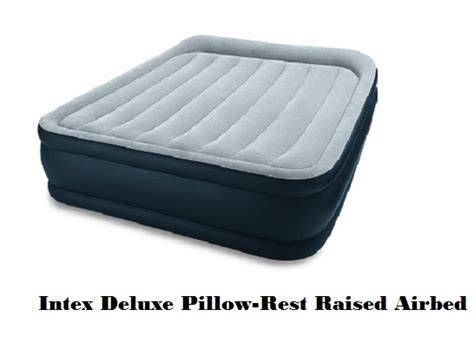 intex deluxe pillow rest rising comfort bed mattress sale