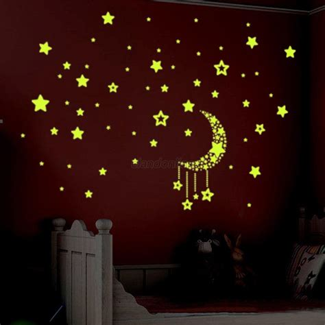 glow in the room decor fluorescent 3d diy luminous glow in the home wall room baby decor ebay
