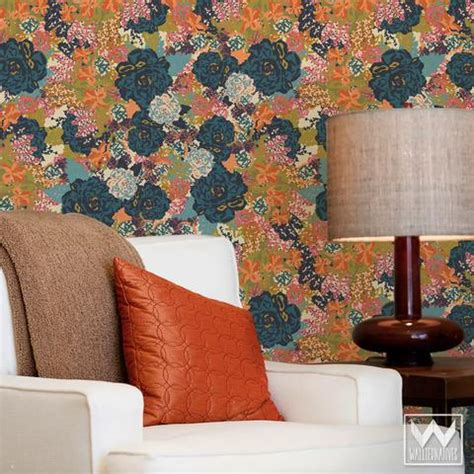 removable wallpaper floral bari j designs vintage floral pattern is now a removable