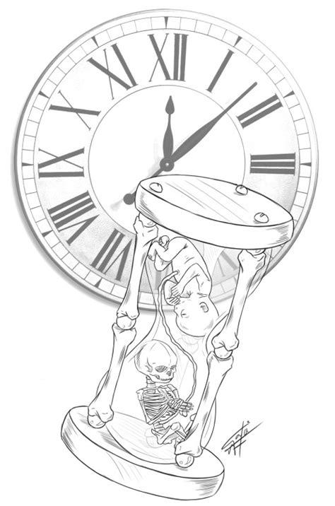 clock tattoo designs tumblr skull and clock