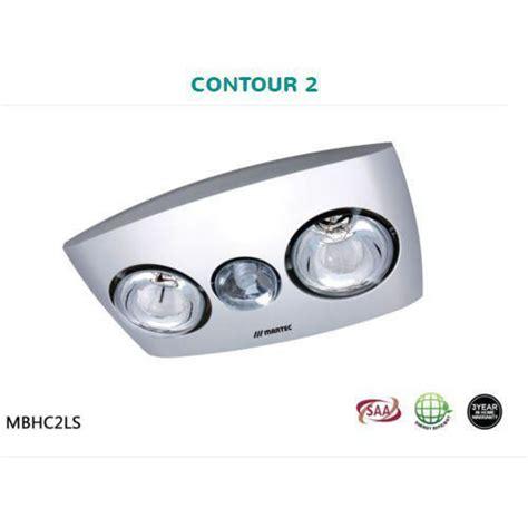 bathroom heat ls no fan martec contour 2 bathroom heater exhaust fan and light mbhc2ls ebay