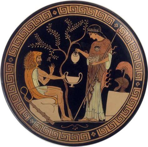 grecia antica eracle e atena piatto ornamentale antica grecia replica