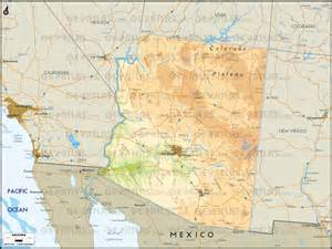arizona physical map physical geography map of arizona pictures to pin on
