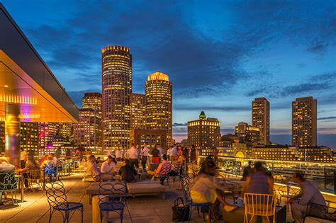 top bars boston lookout rooftop bar in boston ma the envoy hotel dining