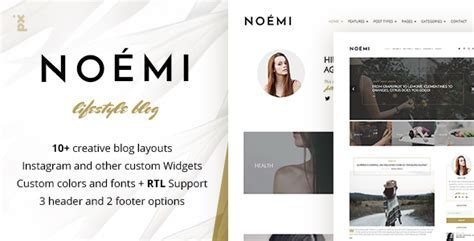 Noemi   Lifestyle & Fashion Blog by PX lab   ThemeForest