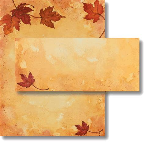 fall leaves stationery printable fall paper fall stationery for special events