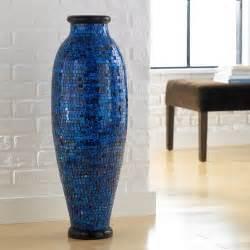 home decor floor vases ocean blue mosaic floor vase polivaz vases vases home