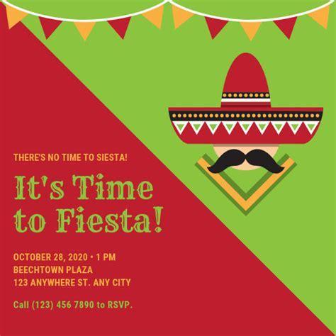 Customize 58  Fiesta Invitation templates online   Canva