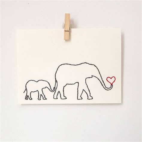 https www etsy listing 496842906 mam floral card template for paper embroidered card elephant and baby s birthday