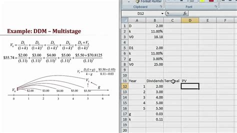dividend discount model excel template implementing the ddm in excel