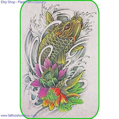 etsy tattoo designs 67 best images about tatoos koi on koi fish